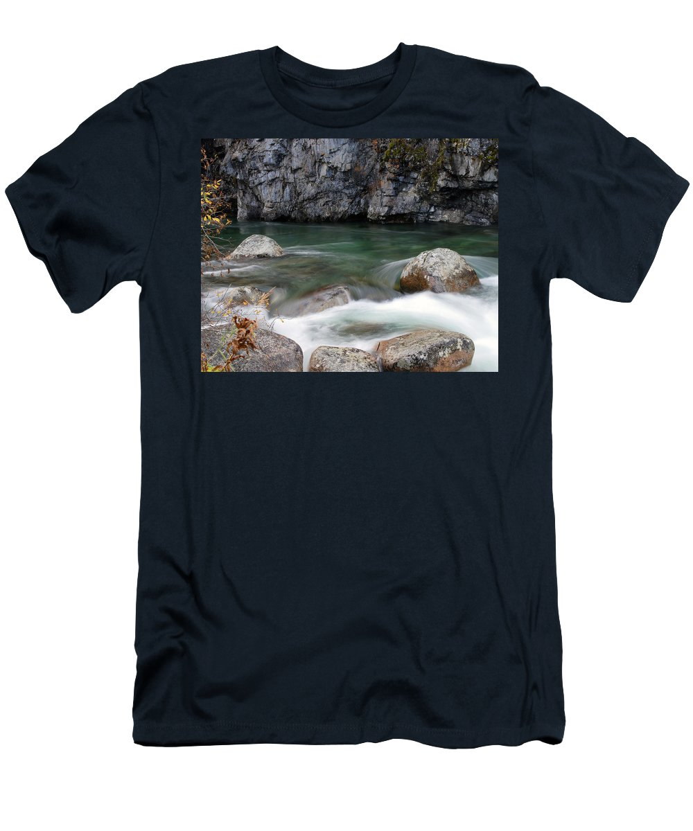 Doug Lloyd Men's T-Shirt (Athletic Fit) featuring the photograph Little Susitna River by Doug Lloyd