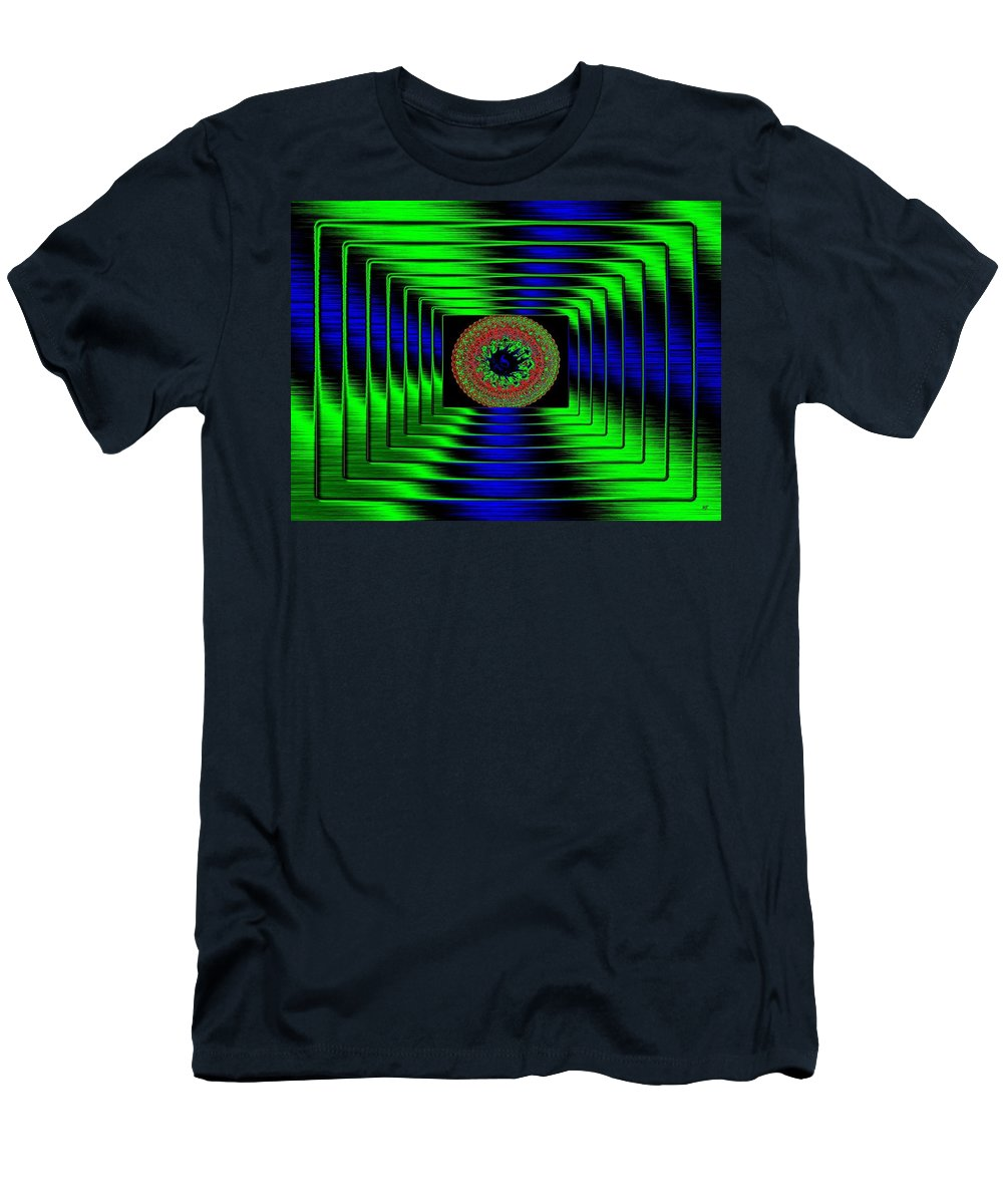 Abstract Men's T-Shirt (Athletic Fit) featuring the digital art Luminous Energy 5 by Will Borden