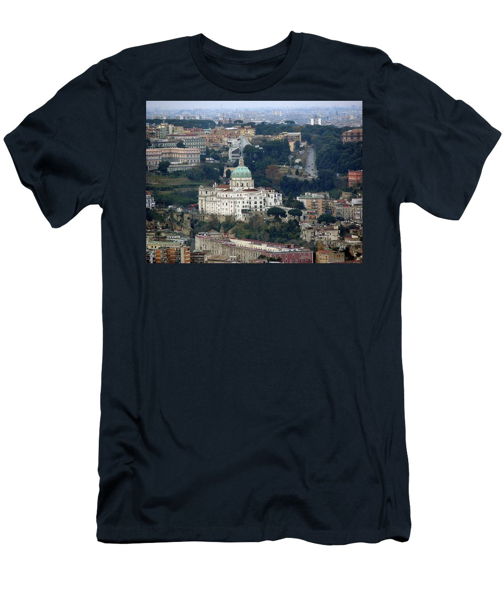 Naples Men's T-Shirt (Athletic Fit) featuring the photograph Naples Italy by Brett Winn