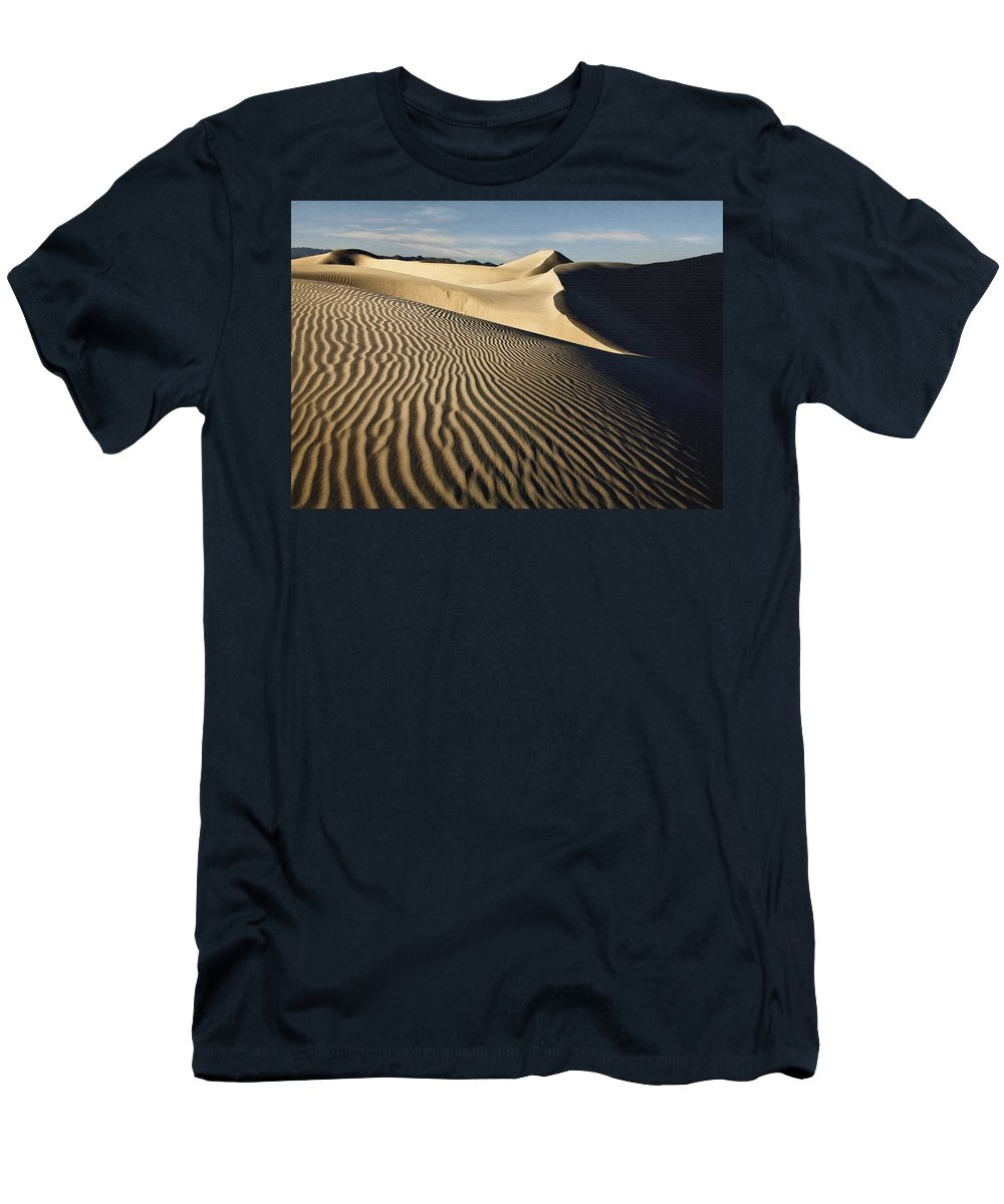 Dune Men's T-Shirt (Athletic Fit) featuring the digital art Oceano Dunes II by Sharon Foster