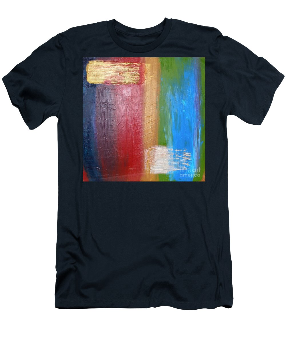 Rainbow Men's T-Shirt (Athletic Fit) featuring the painting Radiance by Maria Bonnier-Perez