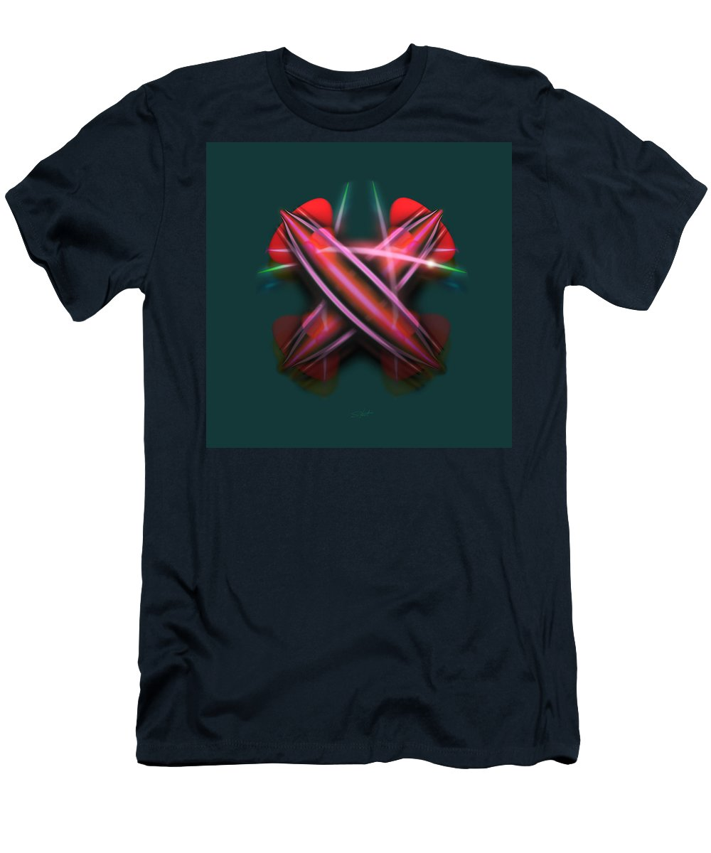 Swords Men's T-Shirt (Athletic Fit) featuring the painting Sabre Dance by Charles Stuart
