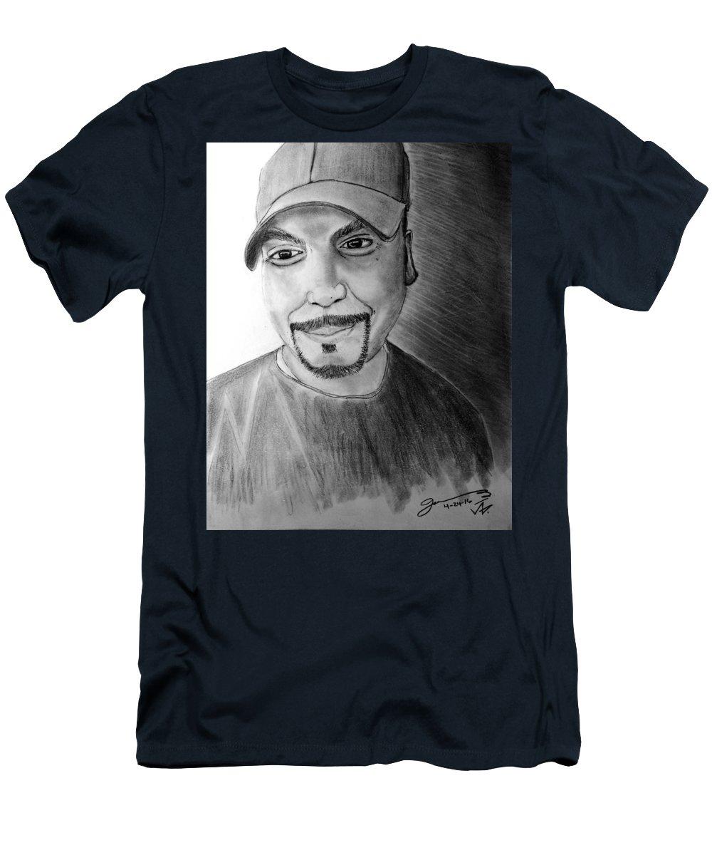 Self-portrait Men's T-Shirt (Athletic Fit) featuring the drawing Self-portrait by Jose A Gonzalez Jr