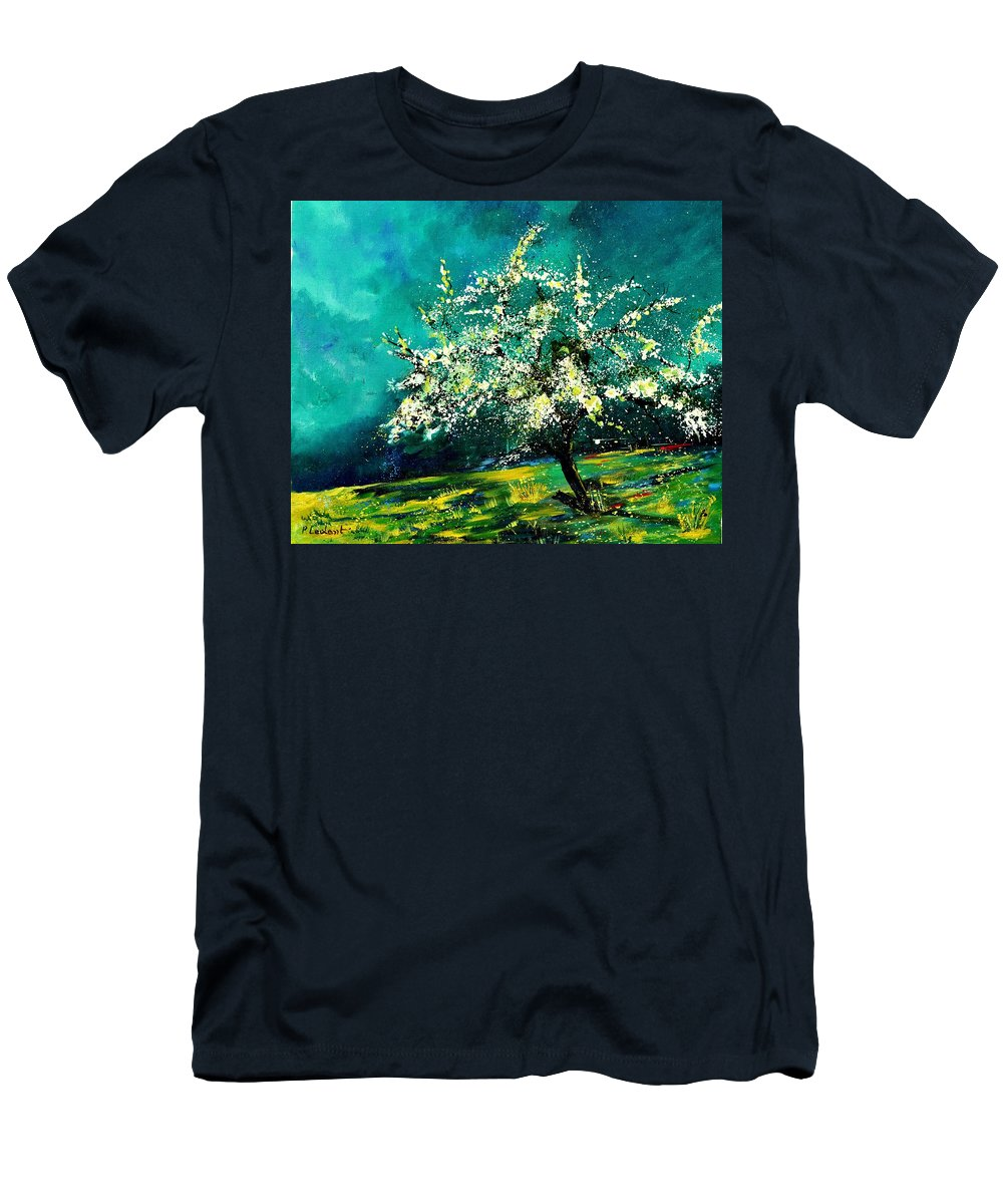 Landscape T-Shirt featuring the painting Spring 67 by Pol Ledent