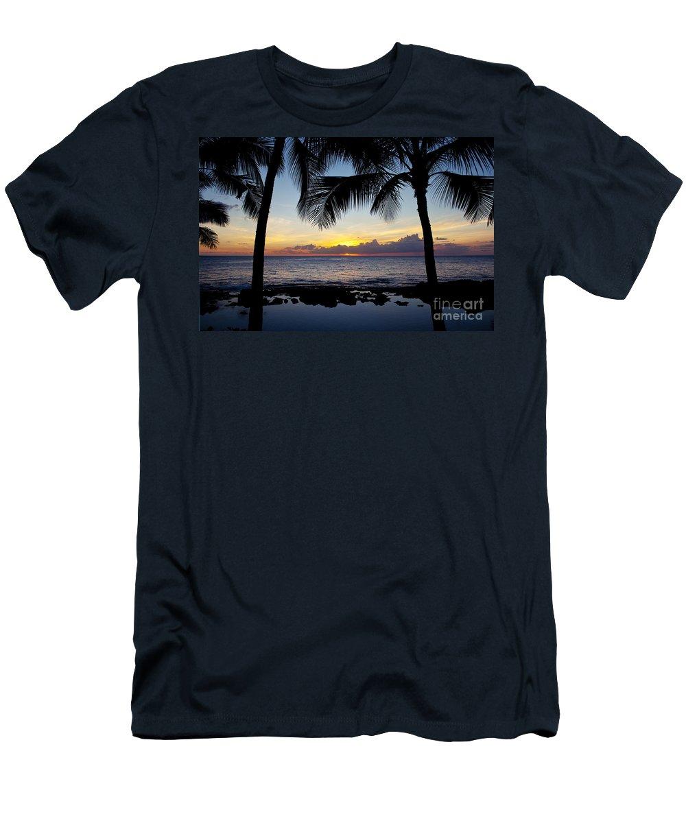 Adventure Men's T-Shirt (Athletic Fit) featuring the photograph Sunset - Oahu West Shore by Joe Carini - Printscapes