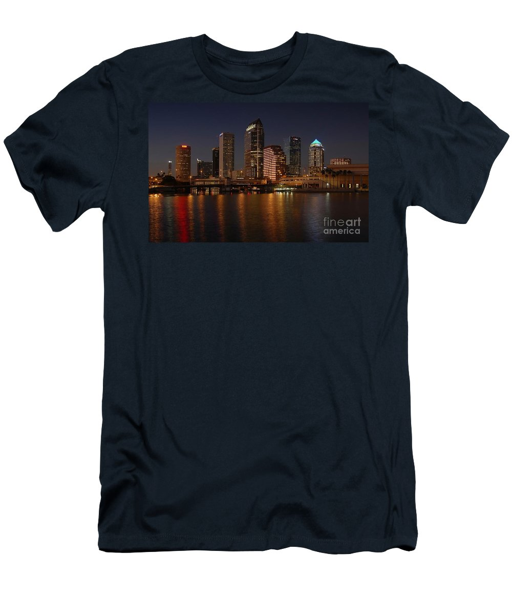 Tampa Men's T-Shirt (Athletic Fit) featuring the photograph Tampa Florida by David Lee Thompson