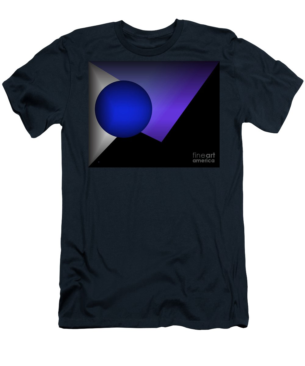 Abstract Men's T-Shirt (Athletic Fit) featuring the digital art 1186-2 2016 by John Krakora