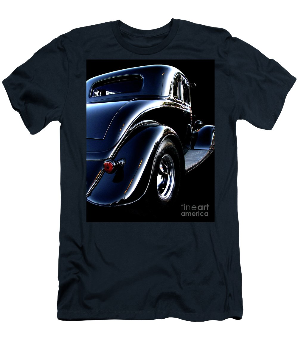 1934 Ford Coupe Men's T-Shirt (Athletic Fit) featuring the photograph 1934 Ford Coupe Rear by Peter Piatt