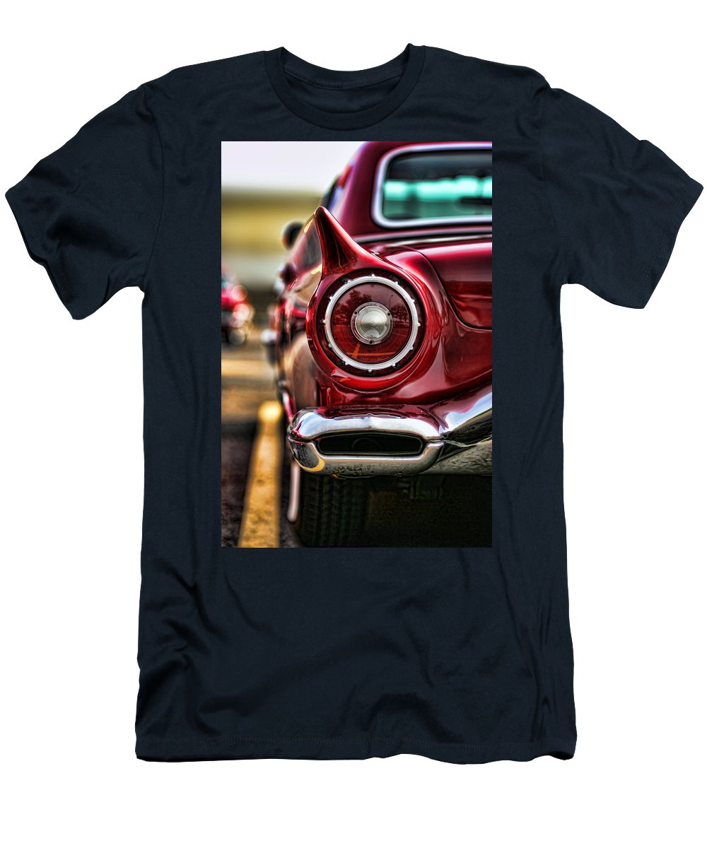 1957 Men's T-Shirt (Athletic Fit) featuring the photograph 1957 Ford Thunderbird Red Convertible by Gordon Dean II