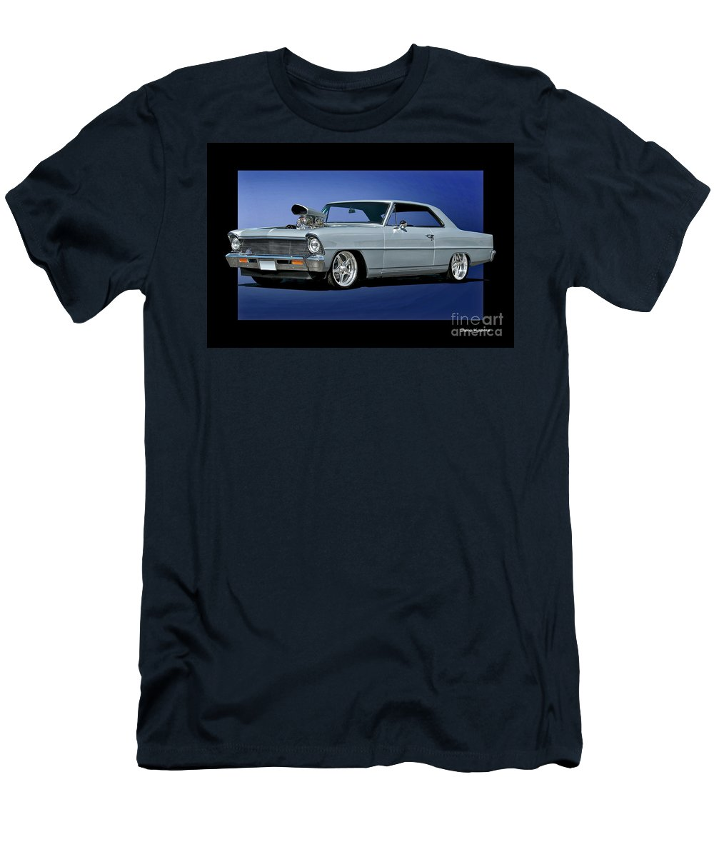 Automobile Men's T-Shirt (Athletic Fit) featuring the photograph 1967 Chevrolet Nova II Super Sport by Dave Koontz