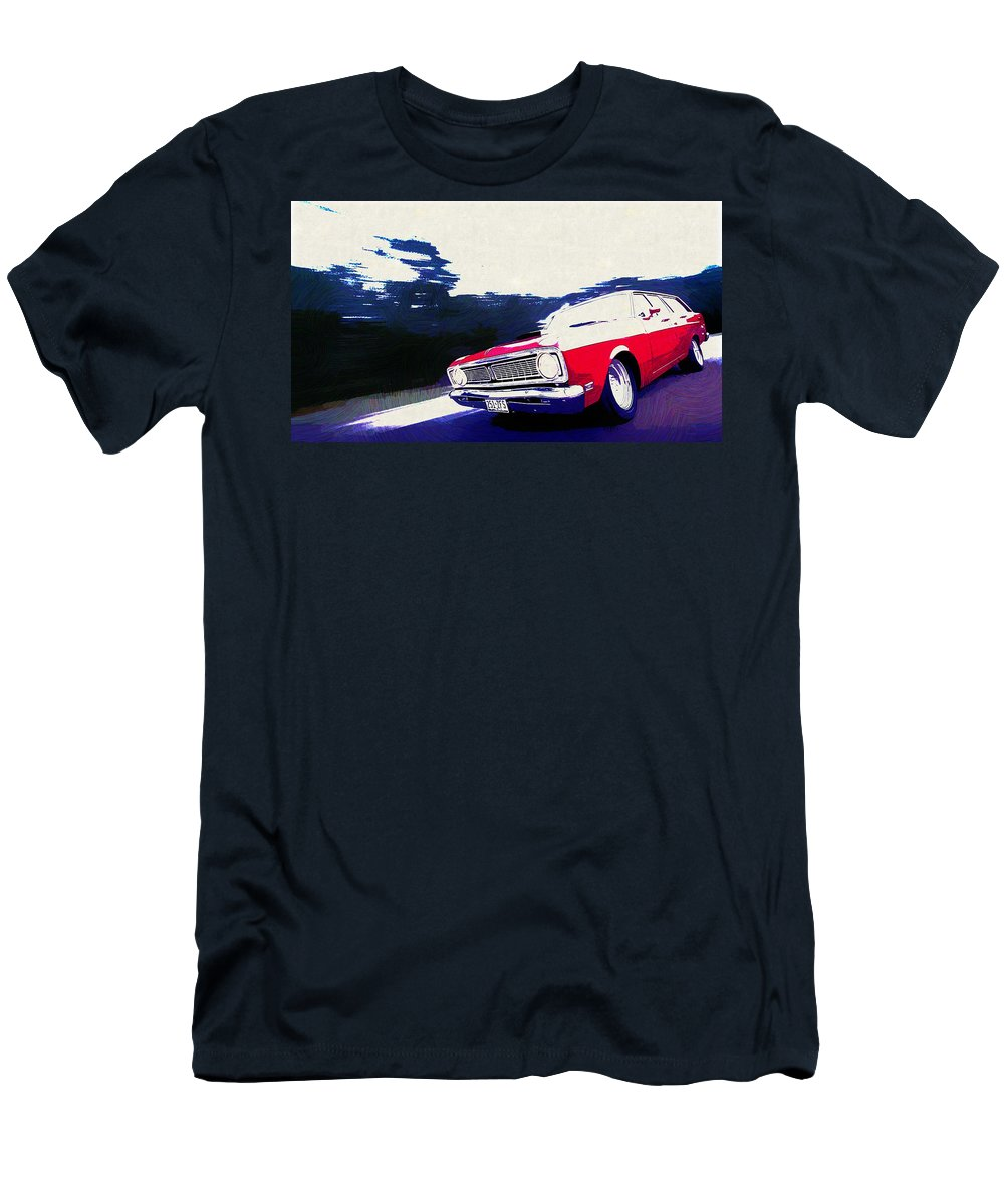 1969 Ford Falcon Futura Men's T-Shirt (Athletic Fit) featuring the digital art 1969 Ford Falcon Futura by Lora Battle