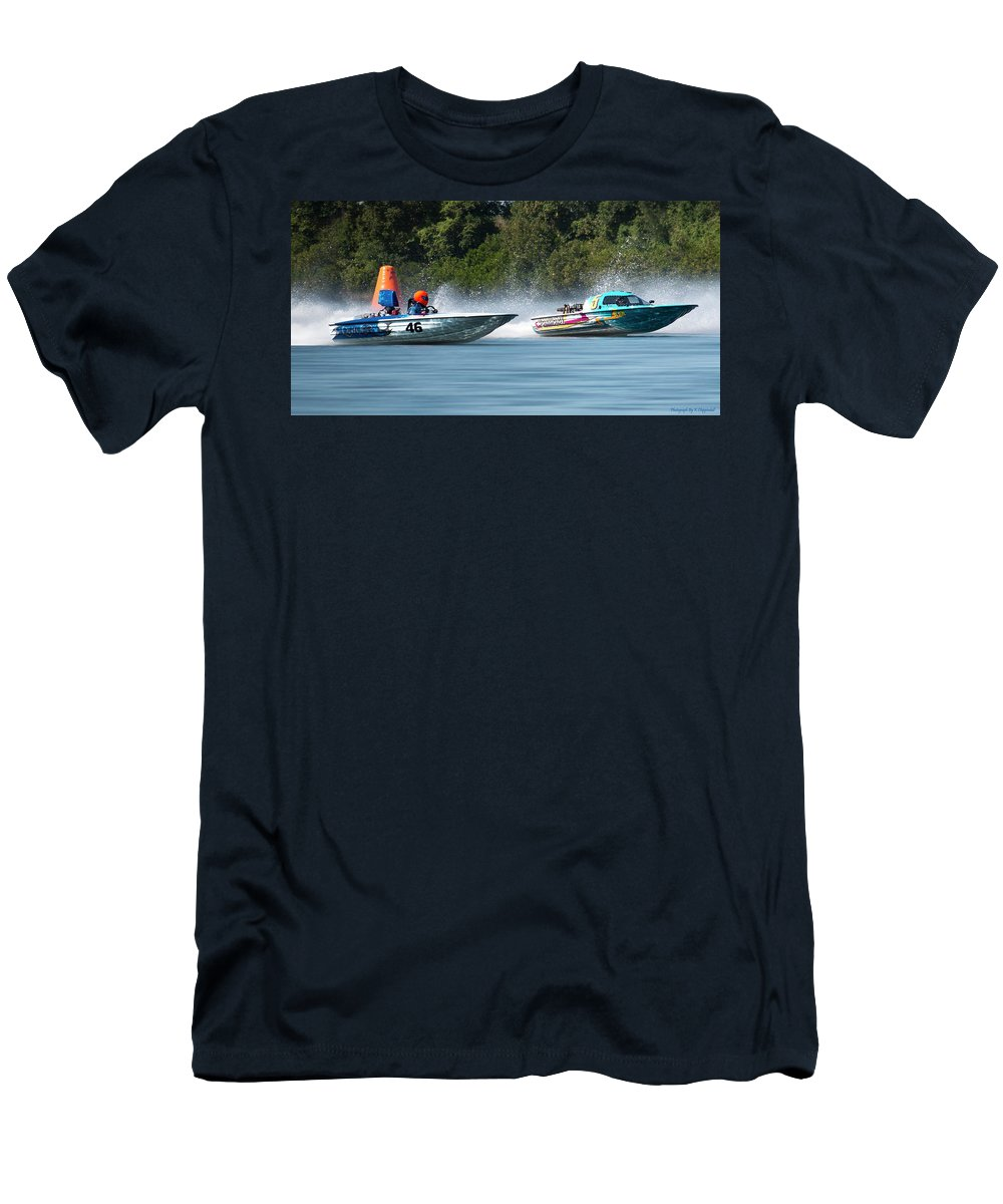 2017 Taree Race Boats Men's T-Shirt (Athletic Fit) featuring the digital art 2017 Taree Race Boats 08 by Kevin Chippindall