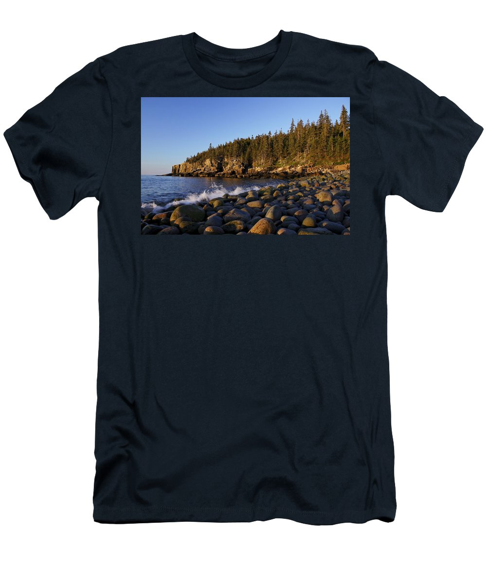 Acadia Men's T-Shirt (Athletic Fit) featuring the photograph Acadia National Park by Brian Kamprath
