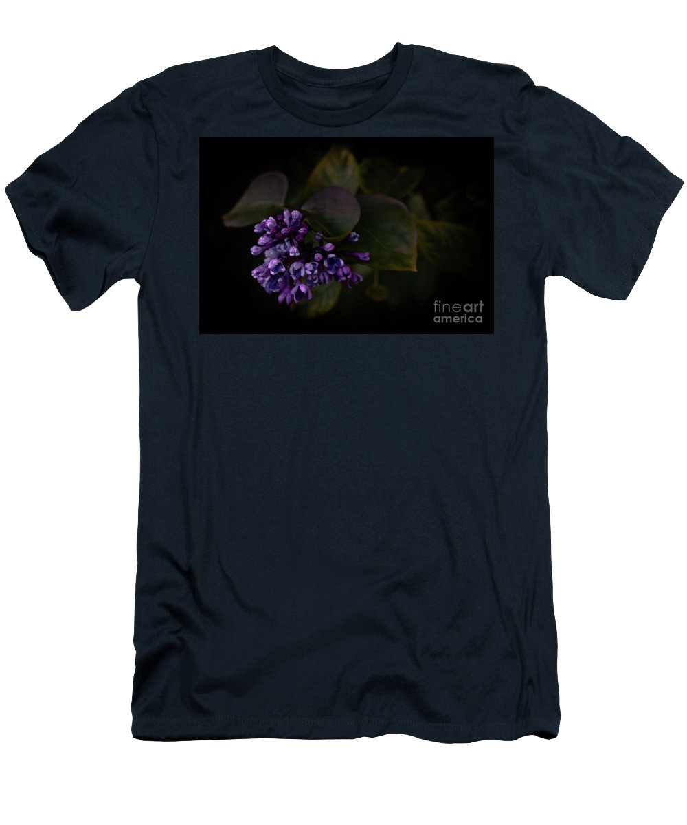 Flowers Men's T-Shirt (Athletic Fit) featuring the photograph Lilacs by Ken Marsh