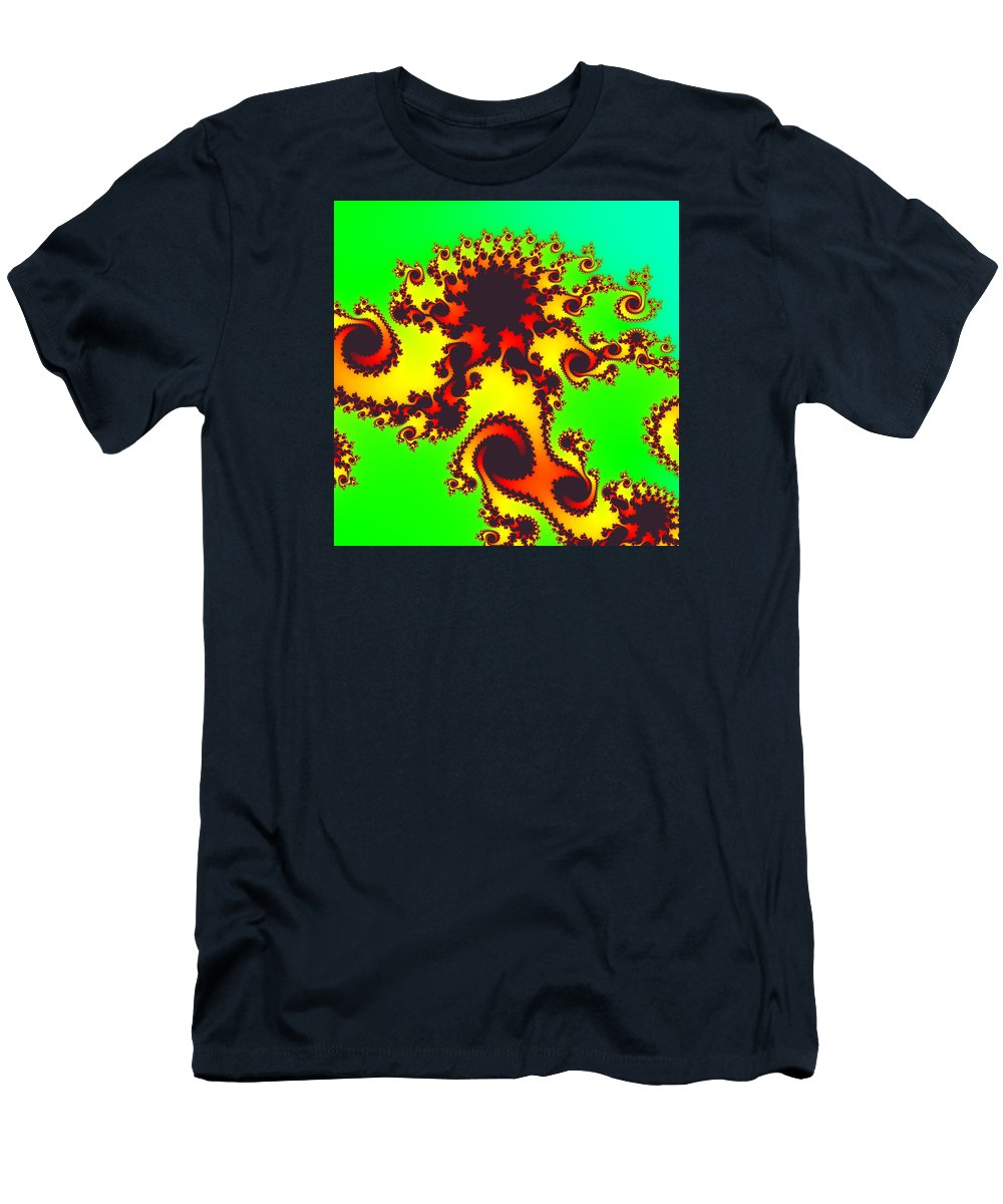 Abstract Men's T-Shirt (Athletic Fit) featuring the digital art Fractal Floral Pattern by Miroslav Nemecek