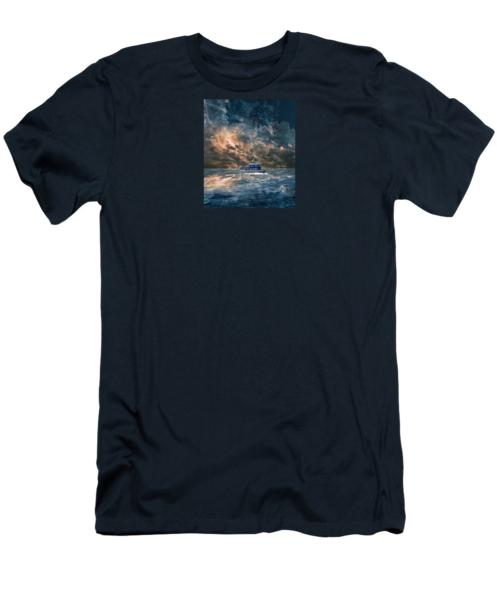 Water Men's T-Shirt (Athletic Fit) featuring the photograph 4100 by Peter Holme III