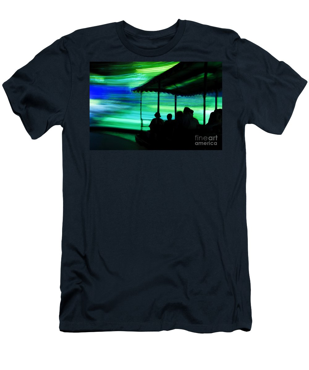 Time Travel Men's T-Shirt (Athletic Fit) featuring the photograph A Boat Ride Through Time by David Lee Thompson