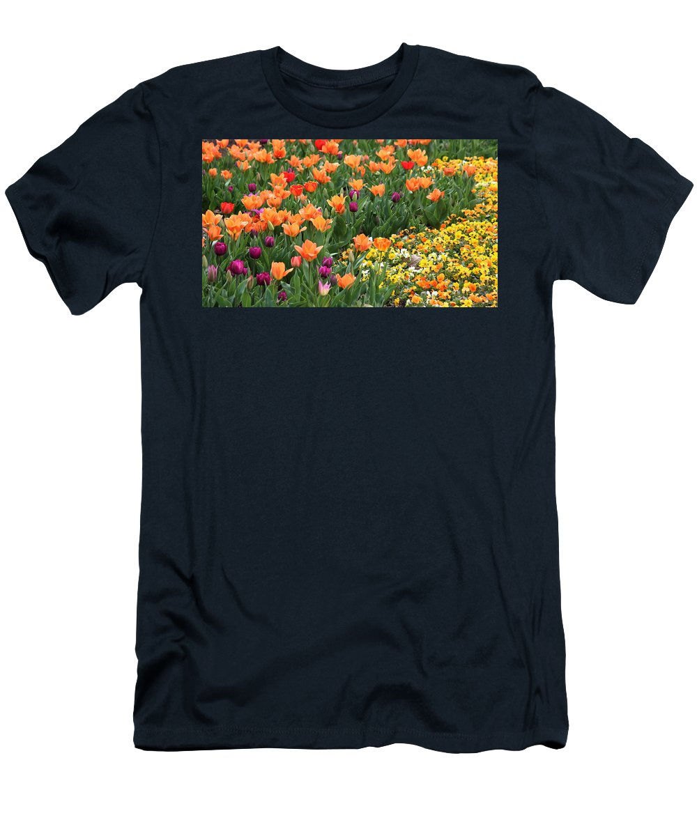 Spring Men's T-Shirt (Athletic Fit) featuring the photograph A Burst Of Spring Color by Rosanne Jordan