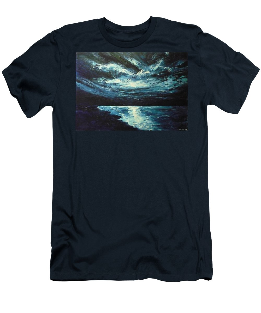 Landscape Men's T-Shirt (Athletic Fit) featuring the painting A Milky Way by Ericka Herazo
