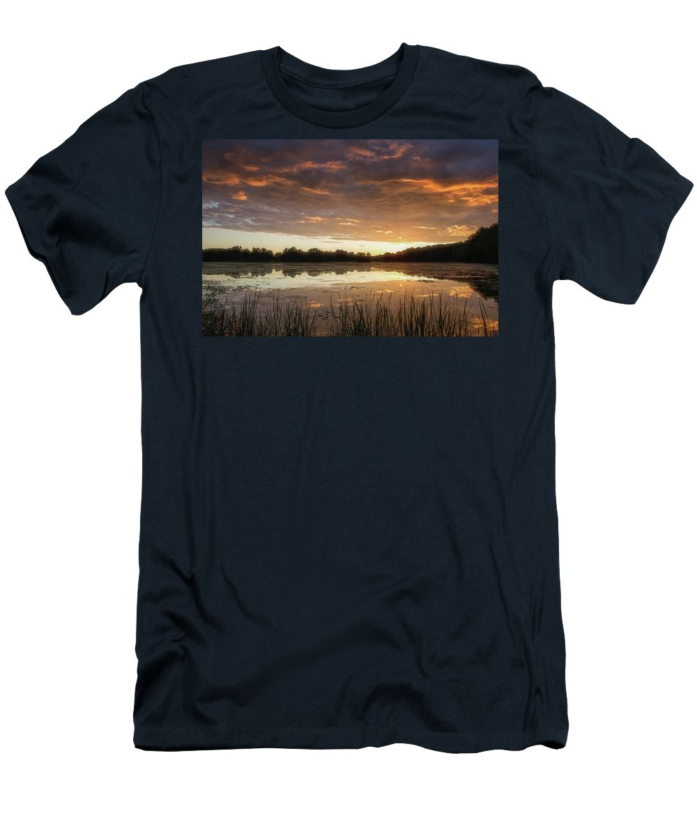 Sun Men's T-Shirt (Athletic Fit) featuring the photograph A New Day by Heather Kenward