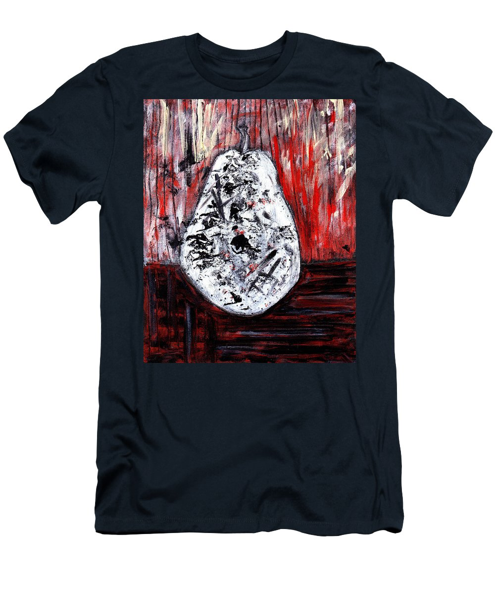 Pear Men's T-Shirt (Athletic Fit) featuring the painting A Pear-antly by Wayne Potrafka