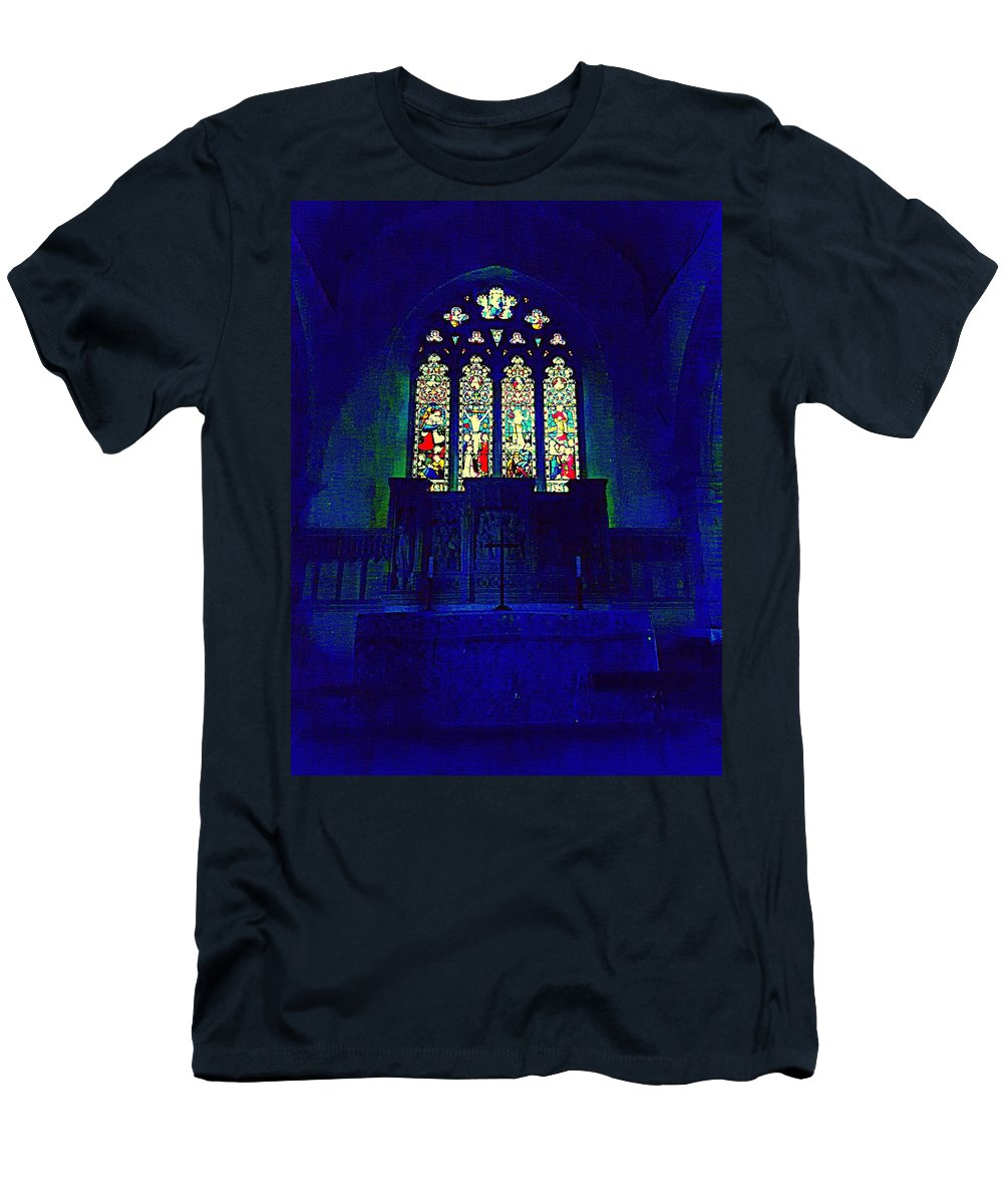 Church Men's T-Shirt (Athletic Fit) featuring the photograph A Place Of Worship by Peter Squire