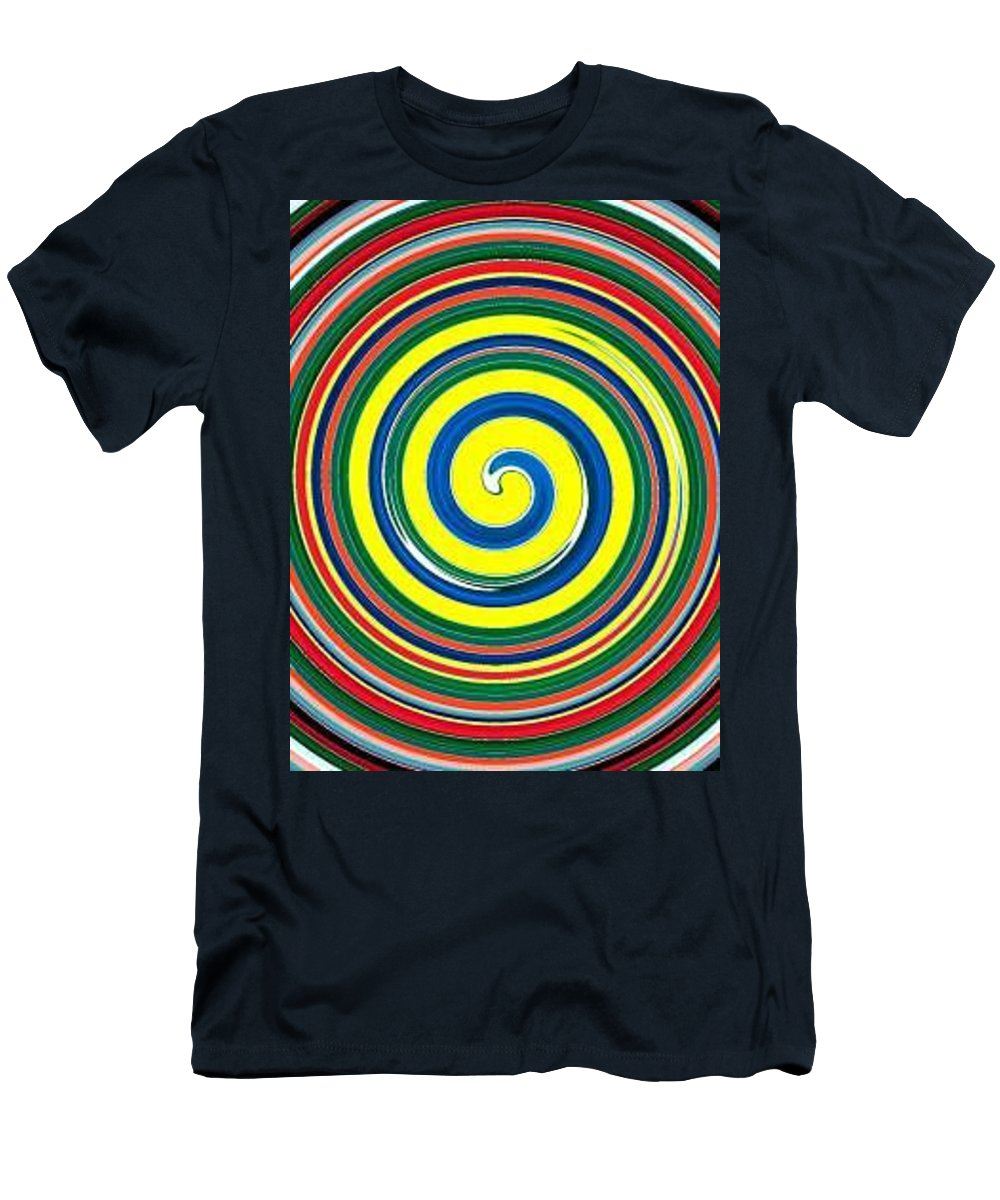 Digital Spiral Men's T-Shirt (Athletic Fit) featuring the painting Abb1 by Andrew Johnson