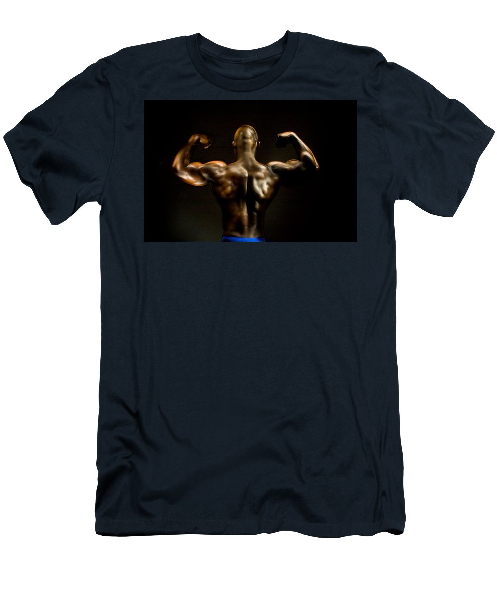 Human Form Men's T-Shirt (Athletic Fit) featuring the photograph Abe 5745 by Timothy Bischoff