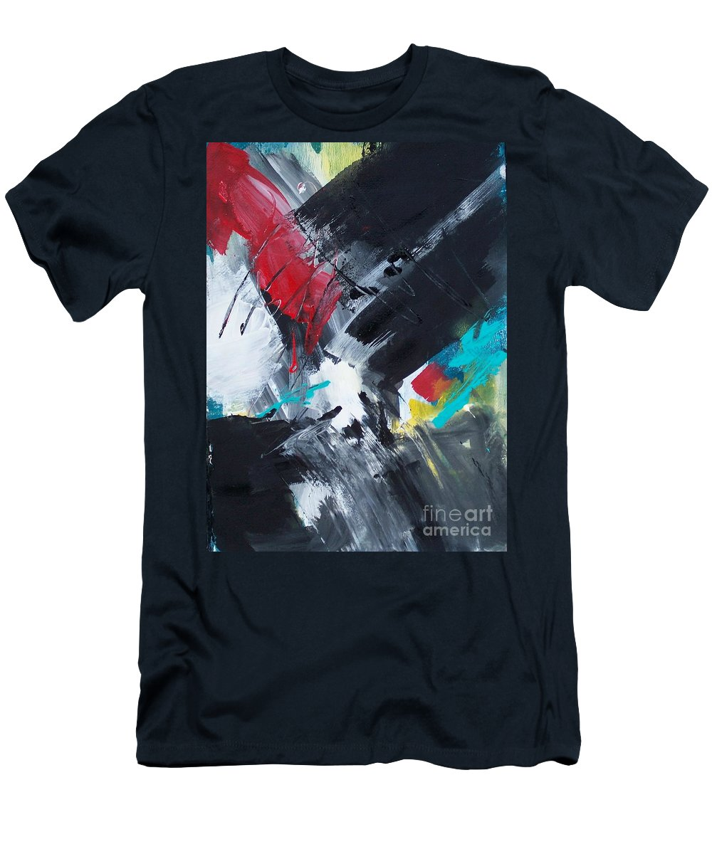 Abstract Men's T-Shirt (Athletic Fit) featuring the painting Abstract 026 by Donna Frost