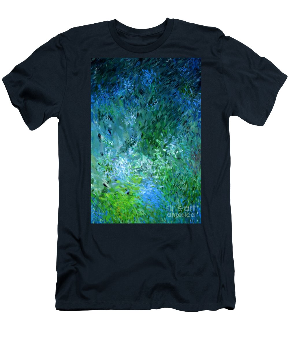Abstract Men's T-Shirt (Athletic Fit) featuring the digital art Abstract 05-25-09 by David Lane