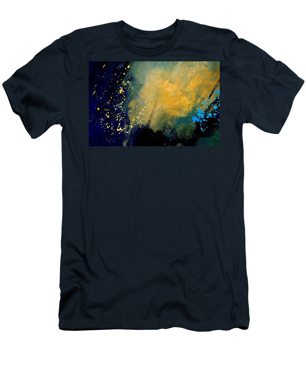 Abstract Men's T-Shirt (Athletic Fit) featuring the painting Abstract 061 by Pol Ledent