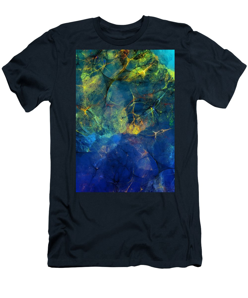 Abstracts Men's T-Shirt (Athletic Fit) featuring the digital art Abstract 081610 by David Lane