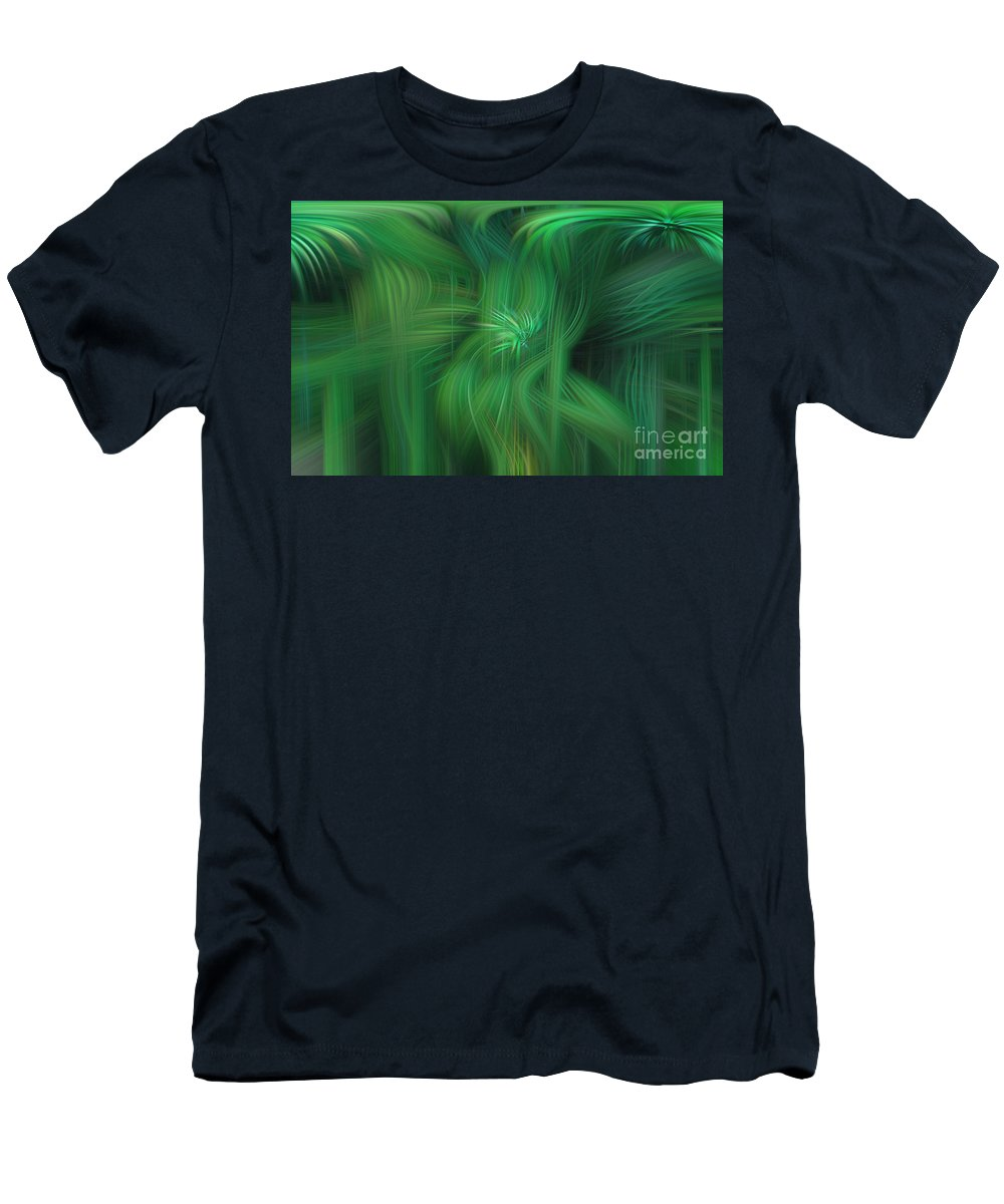 Art Men's T-Shirt (Athletic Fit) featuring the photograph Abstract 0902 G by Howard Roberts
