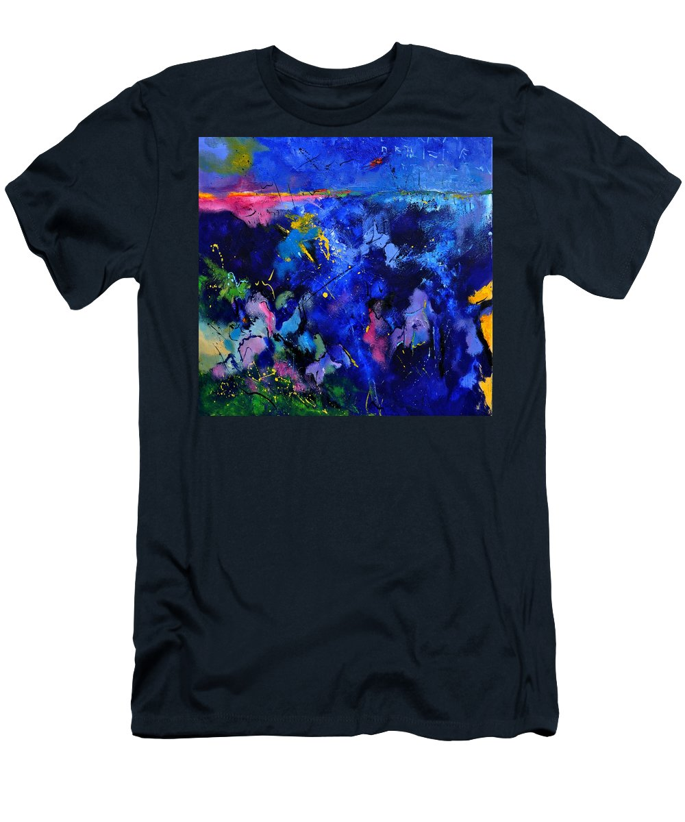 Abstract Men's T-Shirt (Athletic Fit) featuring the painting Abstract 8801602 by Pol Ledent
