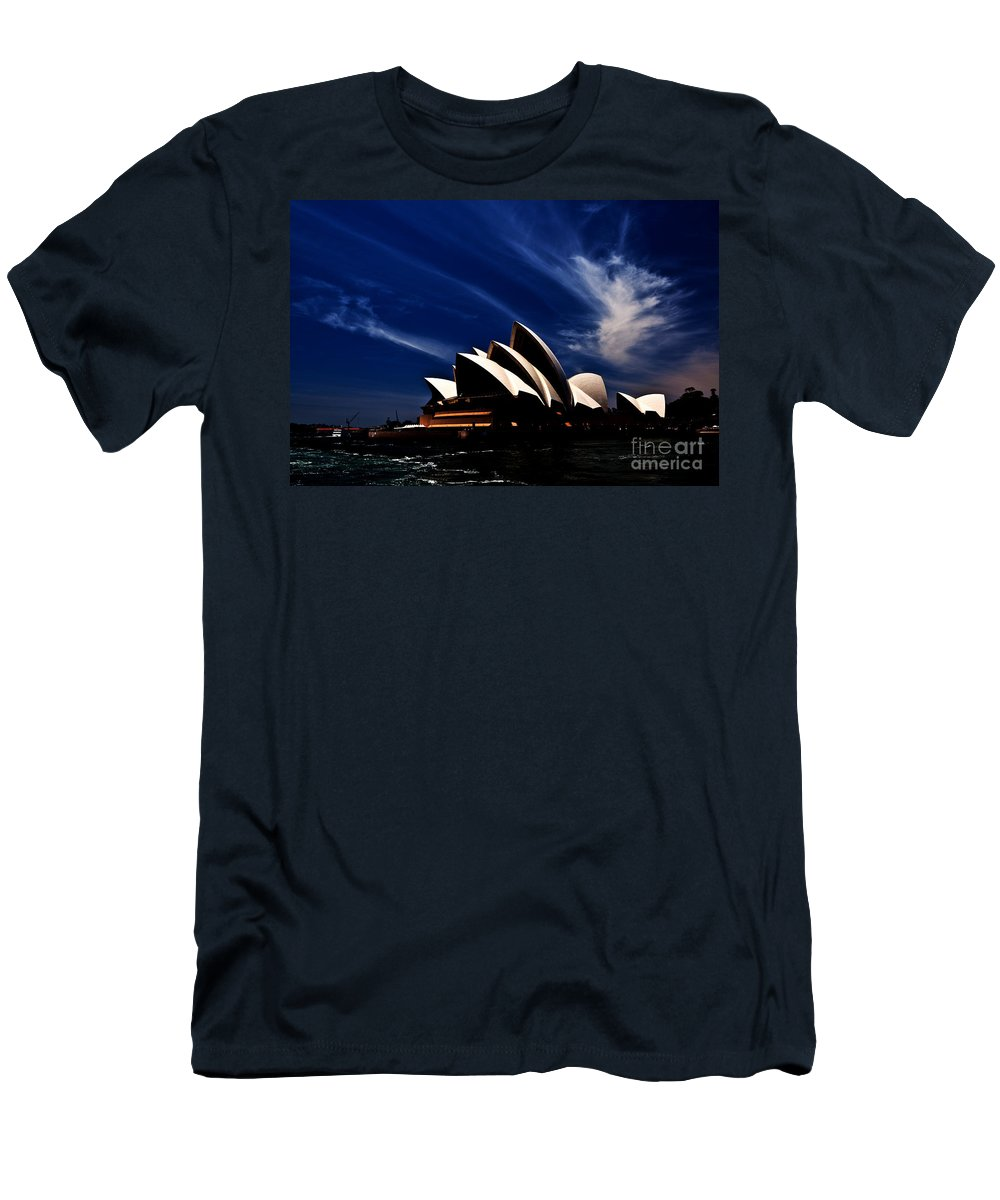 Sydney Opera House Men's T-Shirt (Athletic Fit) featuring the photograph Abstract Of Sydney Opera House by Sheila Smart Fine Art Photography