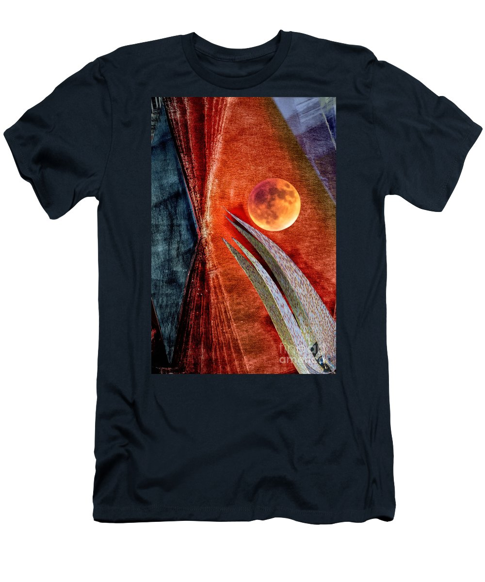 Moon Men's T-Shirt (Athletic Fit) featuring the digital art Abstract On Moon by Georgianne Giese