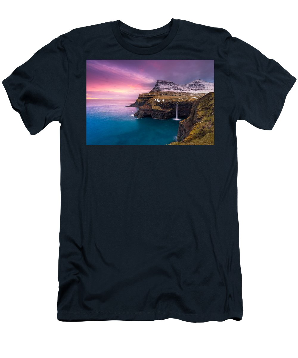 Travel Men's T-Shirt (Athletic Fit) featuring the photograph After Burn by Mikkel Beiter