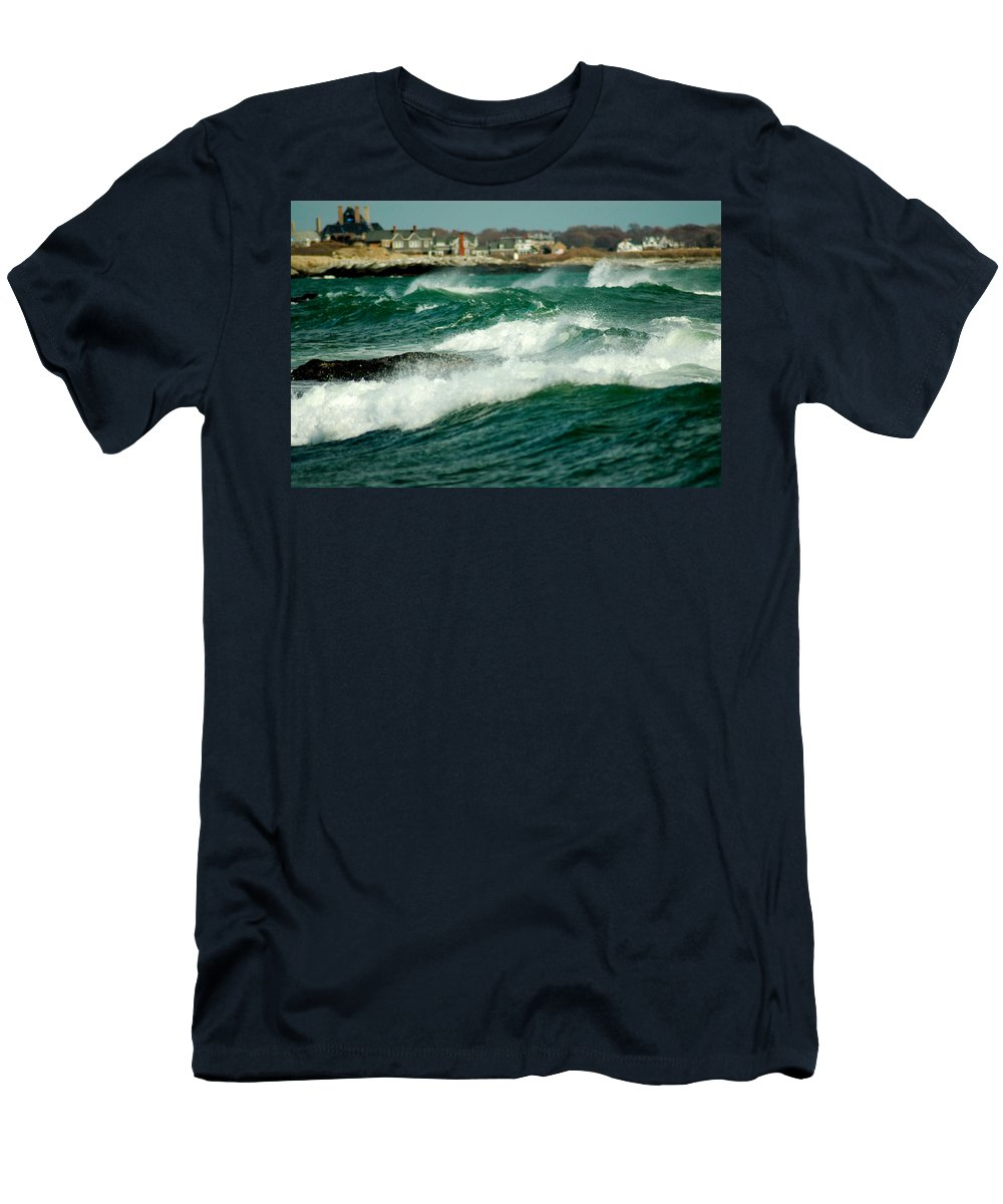 Rhode Island Men's T-Shirt (Athletic Fit) featuring the photograph After The Storm by Greg Fortier
