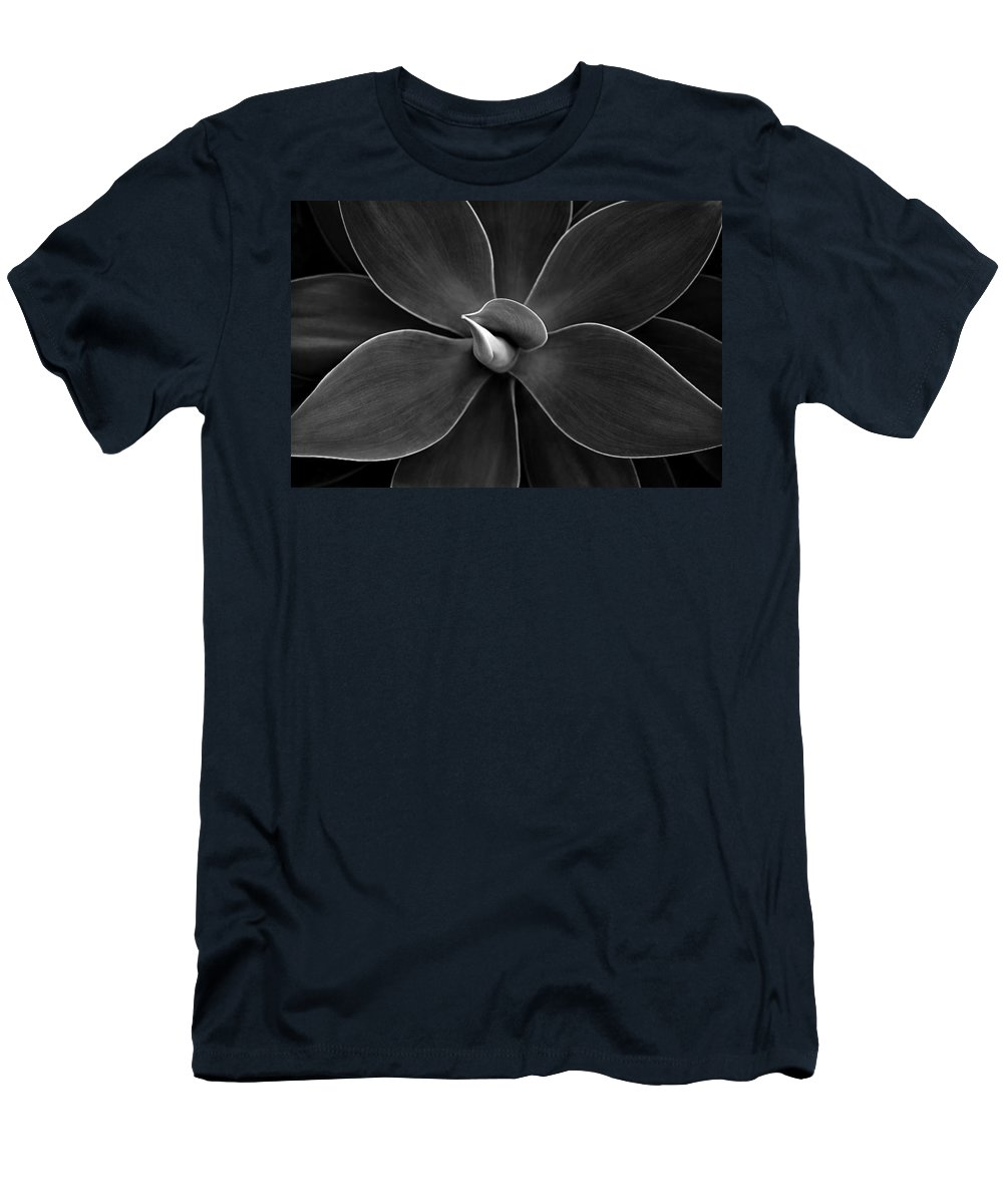 Agave Men's T-Shirt (Athletic Fit) featuring the photograph Agave Leaves Detail by Marilyn Hunt