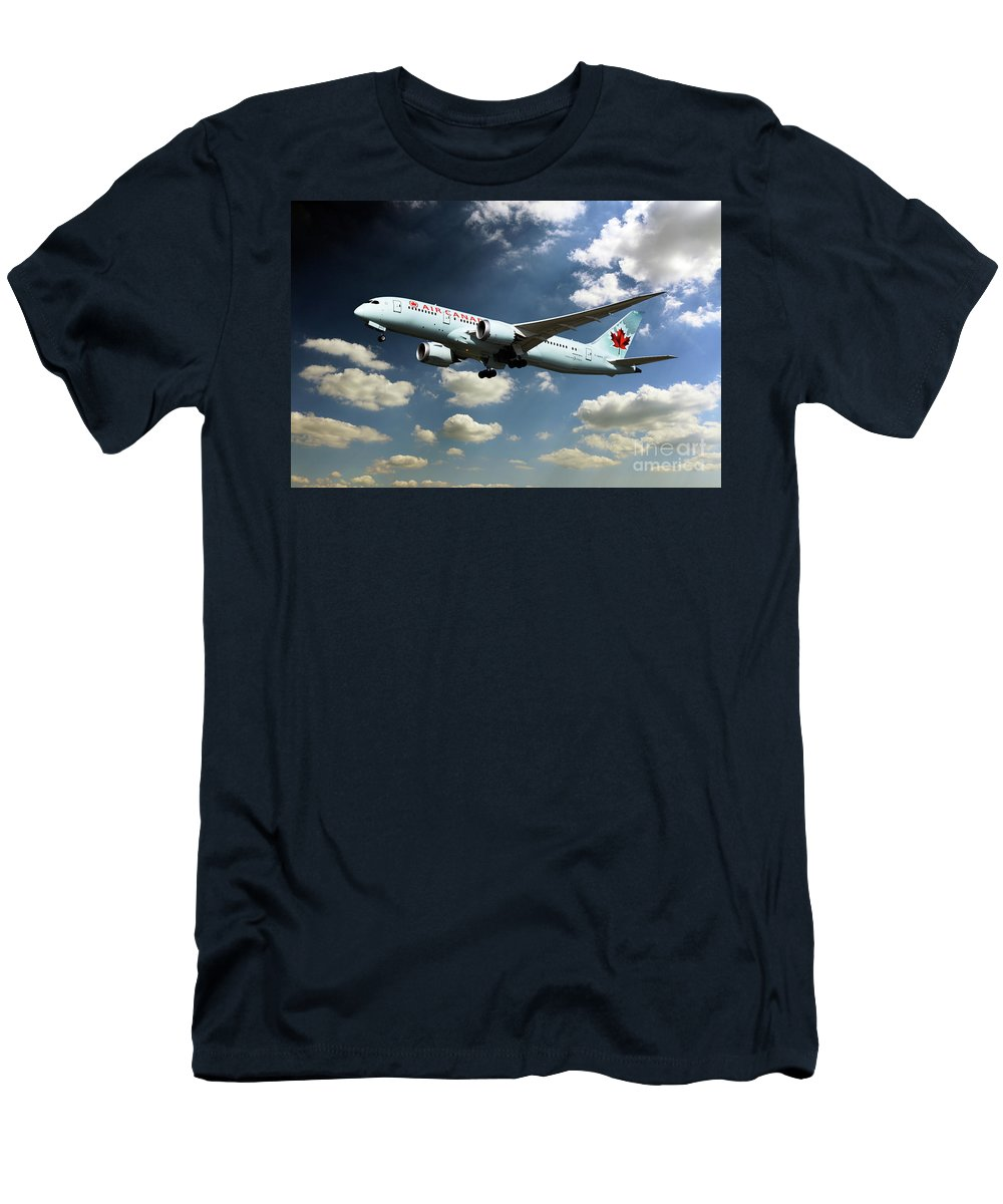 787 Men's T-Shirt (Athletic Fit) featuring the digital art Air Canada 787 Dreamliner by J Biggadike