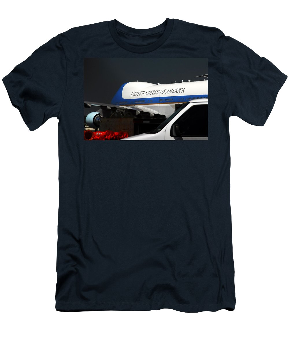 Photography Men's T-Shirt (Athletic Fit) featuring the photograph Air Force One by David Lee Thompson