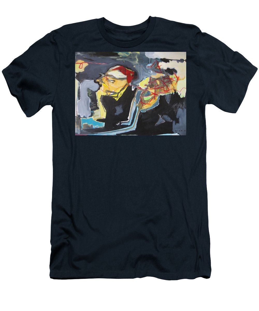 Abstract Paintings Men's T-Shirt (Athletic Fit) featuring the painting Alexander Trail by Seon-Jeong Kim