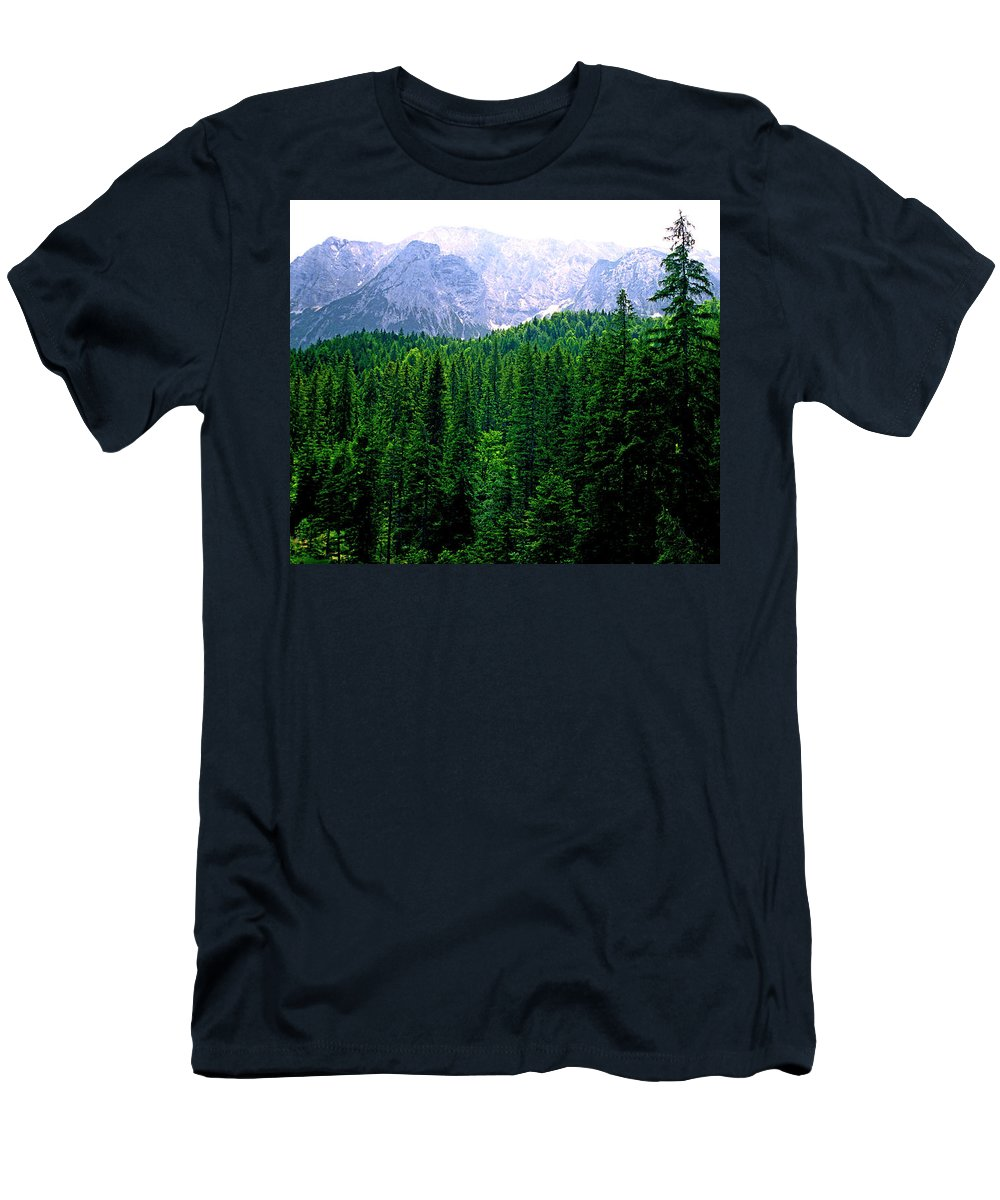 Bavaria Men's T-Shirt (Athletic Fit) featuring the photograph Alpine Forest by Kevin Smith