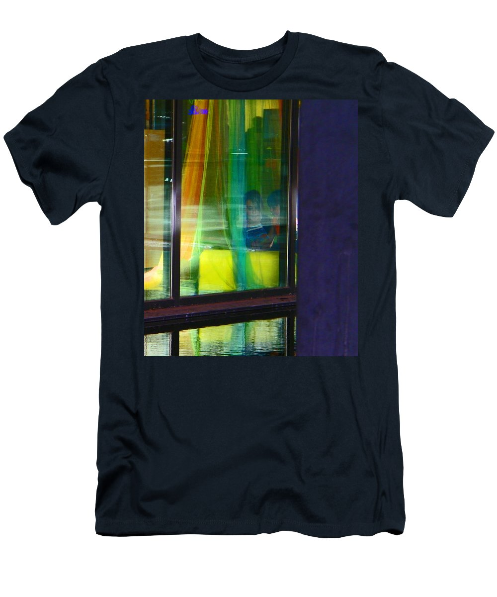 Abstract Men's T-Shirt (Athletic Fit) featuring the photograph Alternate Reality 12 by Lenore Senior