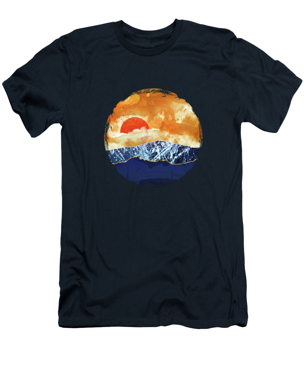 Amber T-Shirt featuring the digital art Amber Dusk by Katherine Smit