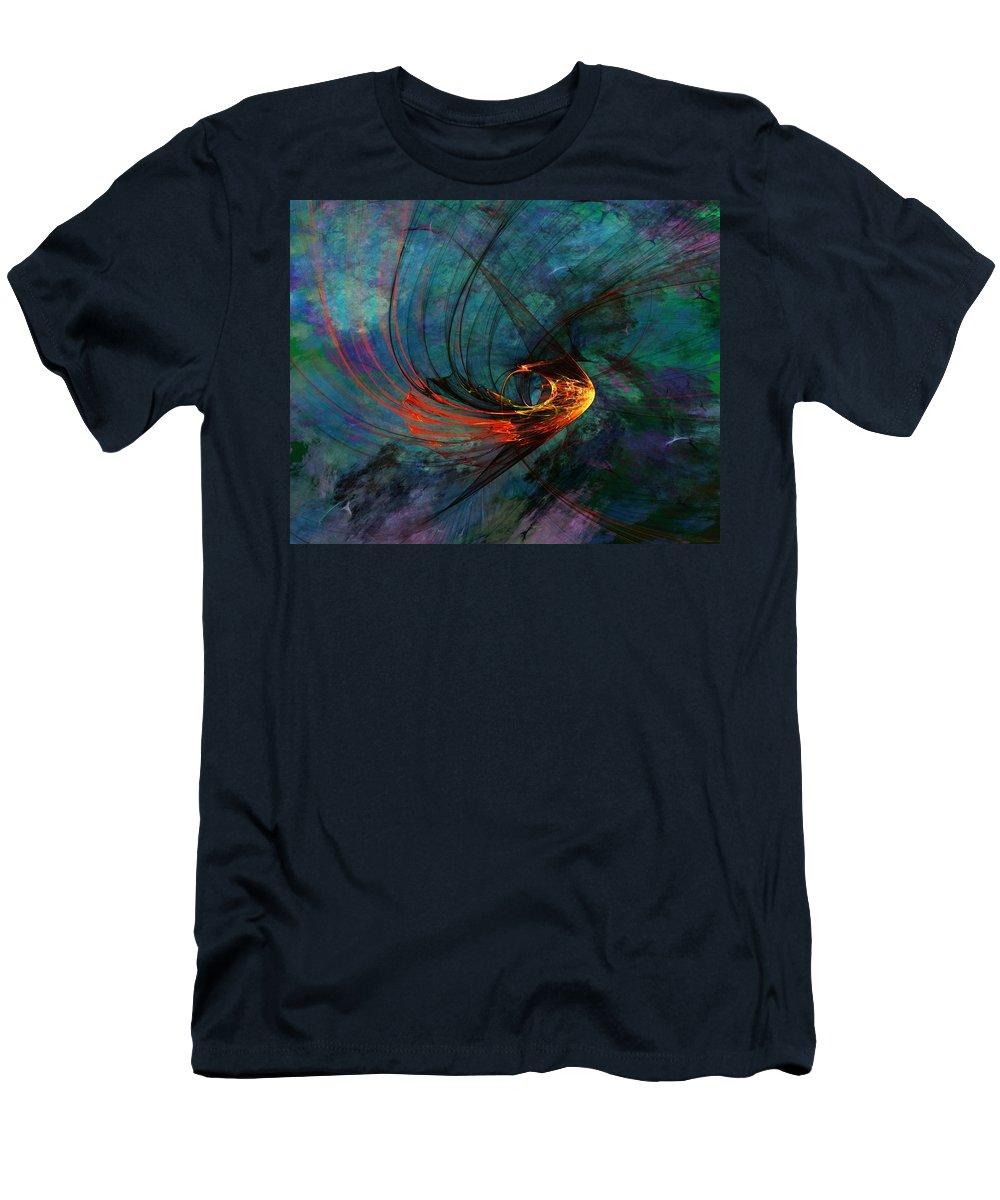 Fine Art Digital Art Men's T-Shirt (Athletic Fit) featuring the digital art Angel From The Deep by David Lane