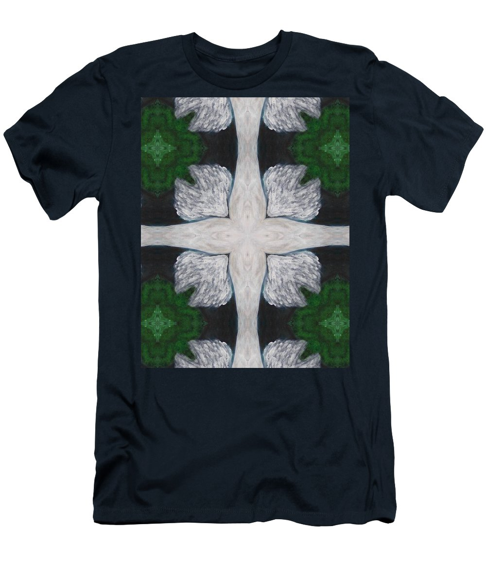 Digital Men's T-Shirt (Athletic Fit) featuring the digital art Angel's Cross by Maria Watt