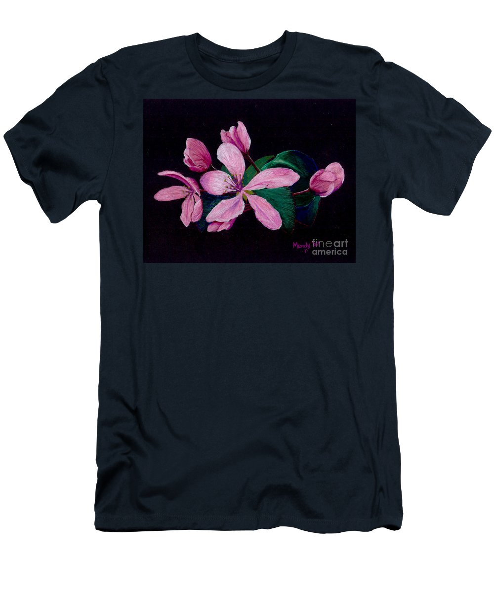 Apple Men's T-Shirt (Athletic Fit) featuring the pastel Apple Blossoms by Mendy Pedersen