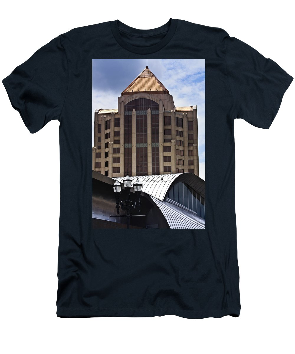 Architecture Men's T-Shirt (Athletic Fit) featuring the photograph Architectural Differences Roanoke Virginia by Teresa Mucha