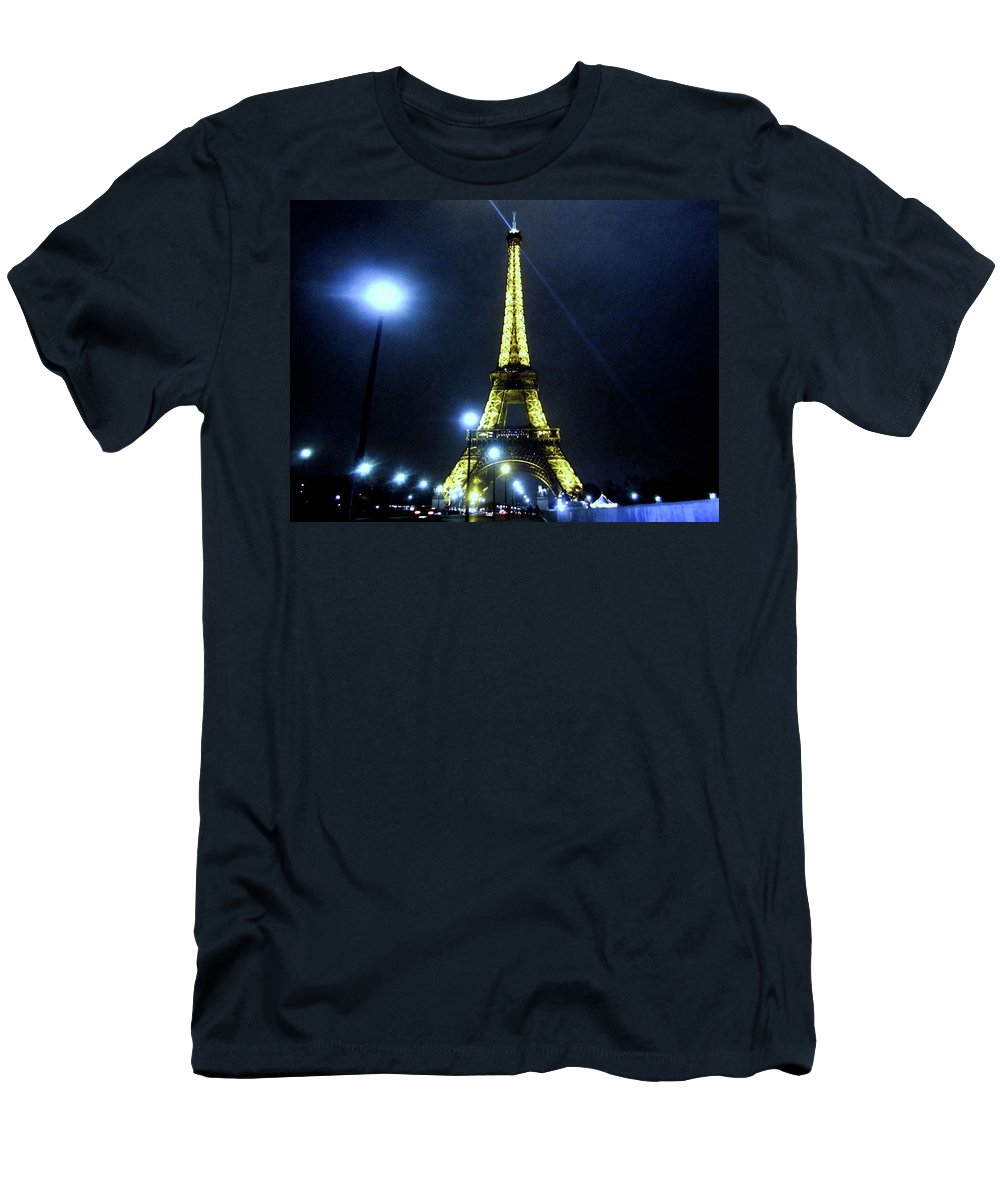 Paris Men's T-Shirt (Athletic Fit) featuring the photograph La Tour Eiffel by Crystal Alatorre